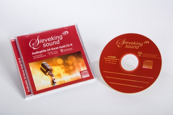 Sieveking Sound 24-Karat Gold-CD Rohling 25er